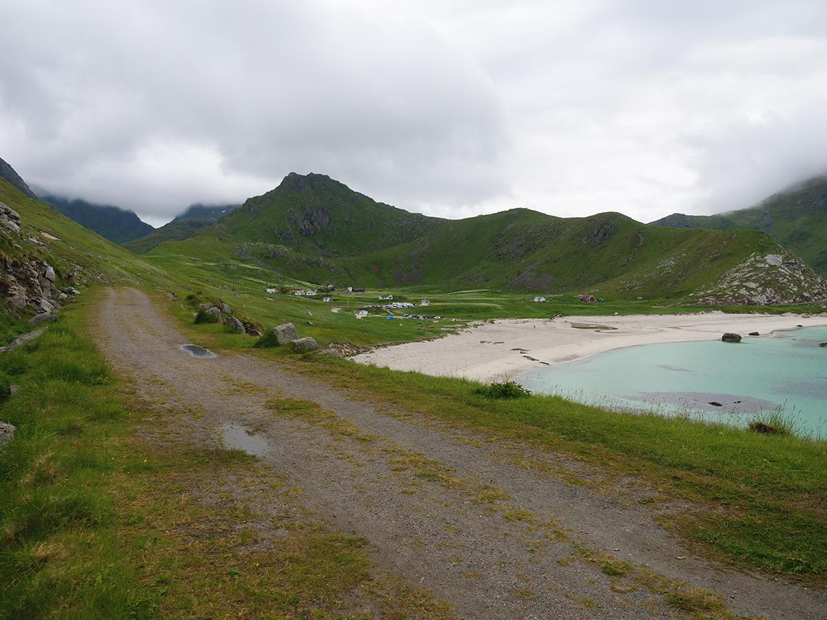 lofoty plaża haukland