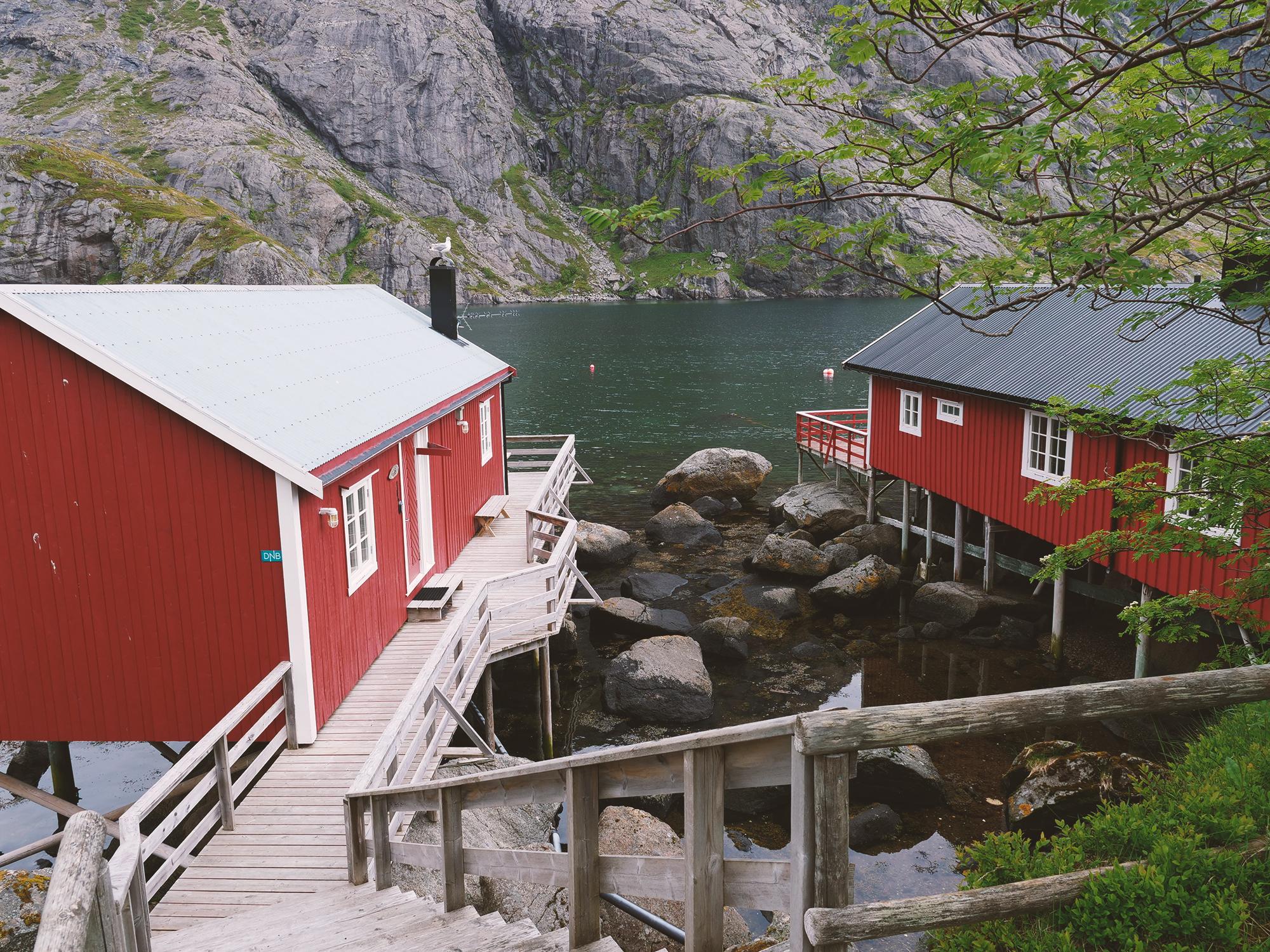 wioska rybacka nusfjord norwegia