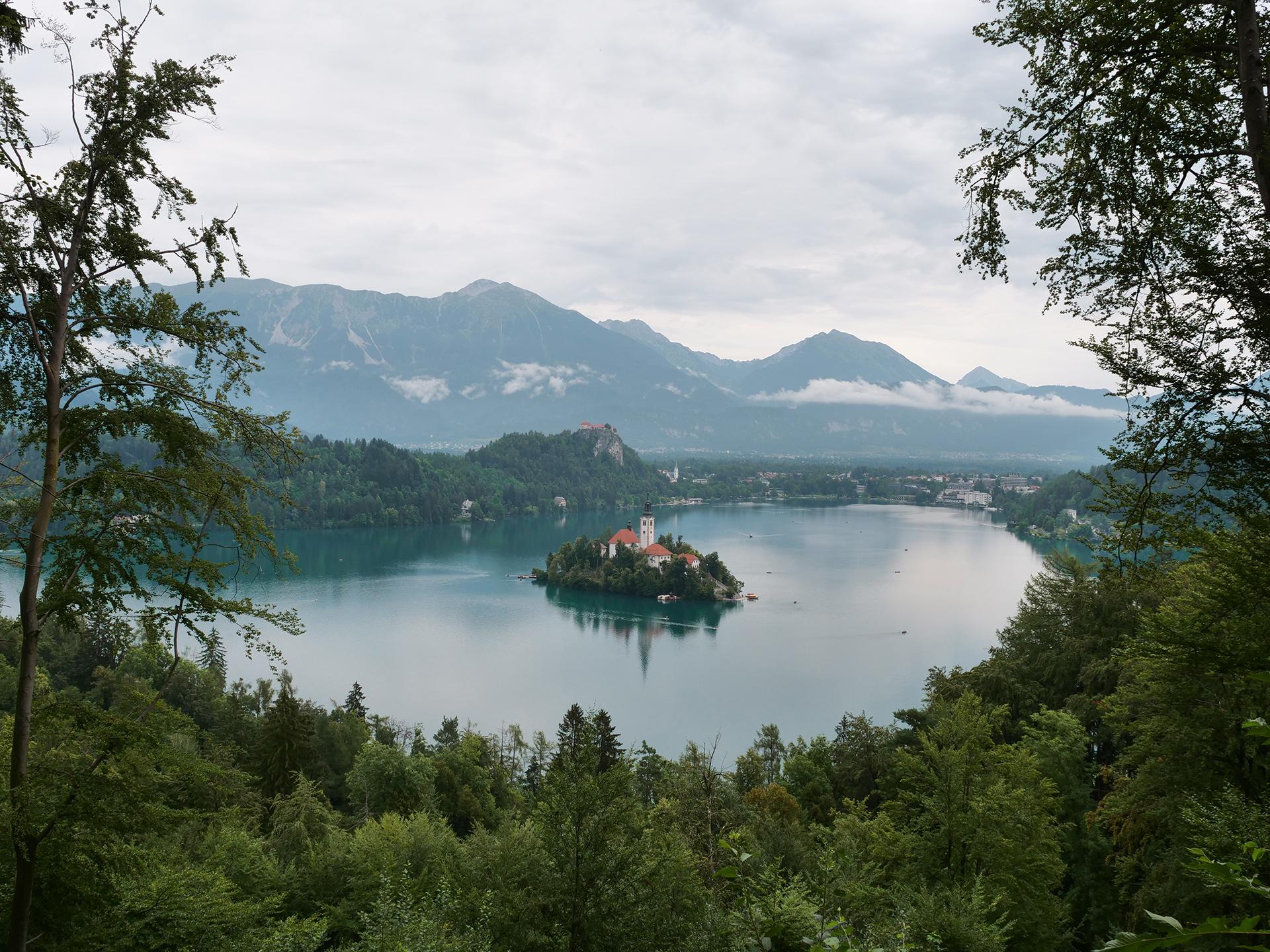 słowenia jezioro bled punkt widokowy