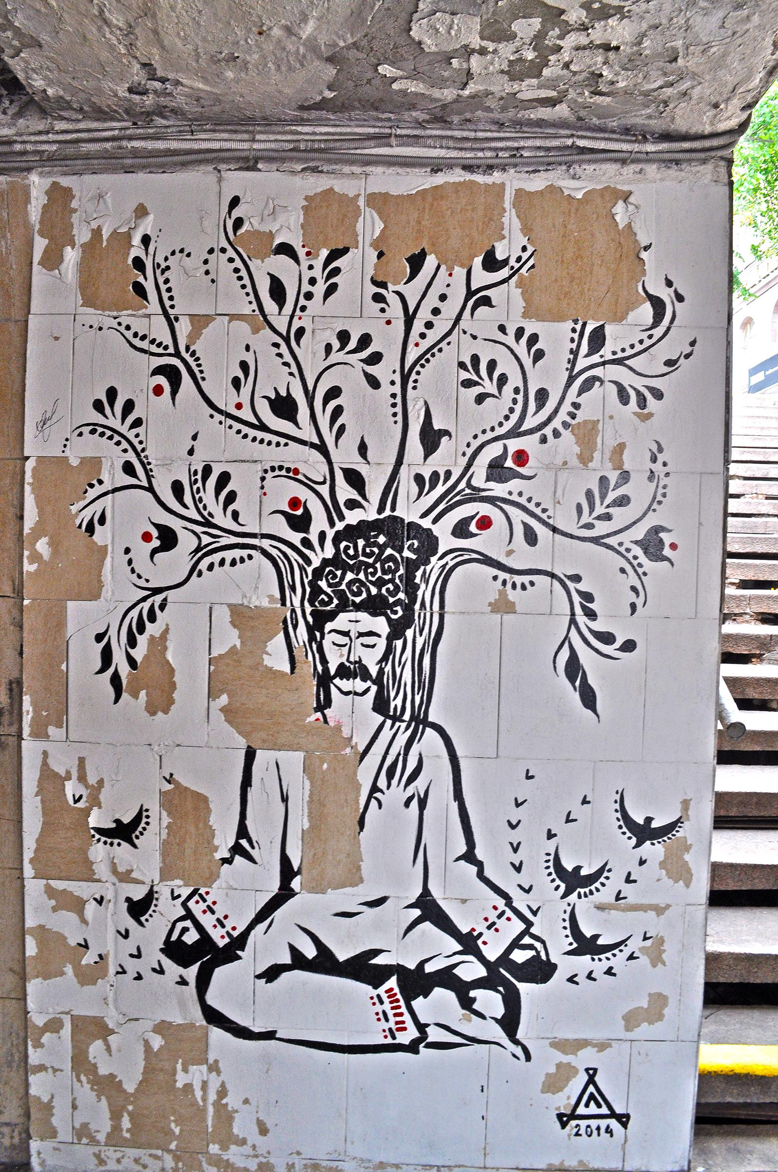 kijów szlakiem murali