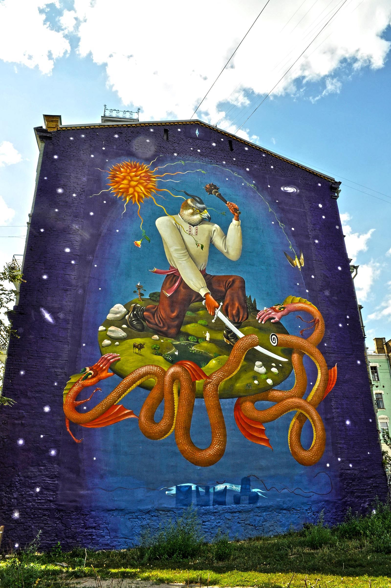 murale w kijowie